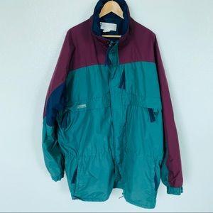 Vintage Columbia Jacket Coat in Rare Color Sz XL
